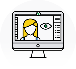 Webcam enabled proctortrack online test