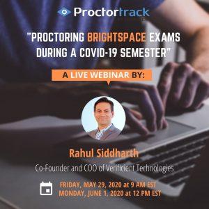 Live webinar for Proctortrack D2L Brightspace