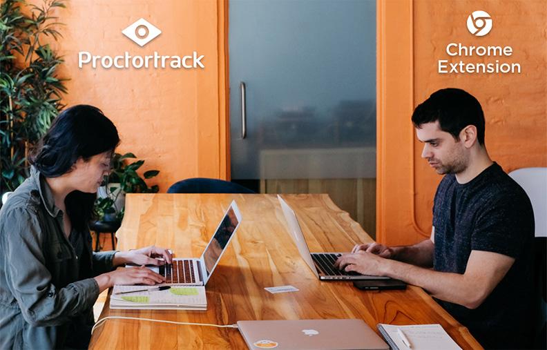 online proctored exam download proctortrack browser extension for proctoring.exam remote invigilation, remote supervisor, invigilator online test, remote invigilation system.